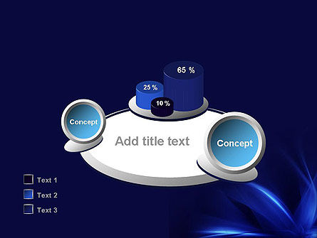 Abstract Blue Flame PowerPoint Template Slide 16
