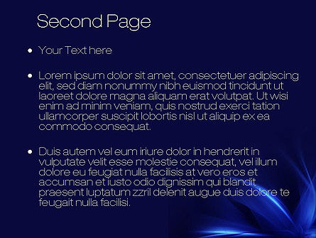 Abstract Blue Flame PowerPoint Template Slide 2