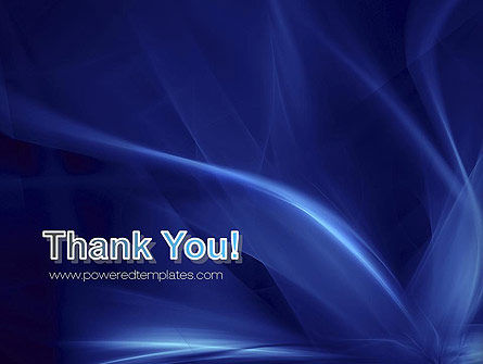 Abstract Blue Flame PowerPoint Template Slide 20