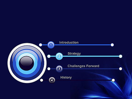 Abstract Blue Flame PowerPoint Template Slide 3