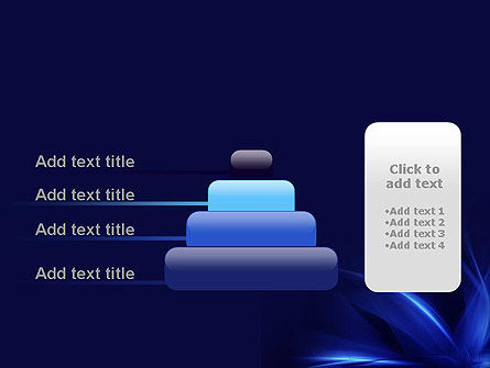 Abstract Blue Flame PowerPoint Template Slide 8