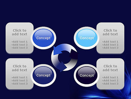 Abstract Blue Flame PowerPoint Template Slide 9