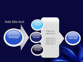Abstract Blue Flame PowerPoint Template#17