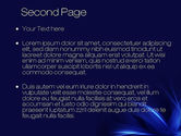 Abstract Blue Flame PowerPoint Template#2