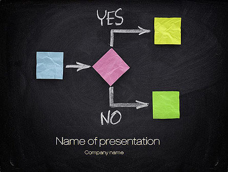 Business Concepts: Blank Flowchart PowerPoint Template #10720