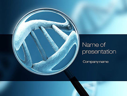 Medical: Genetic Test PowerPoint Template #10722