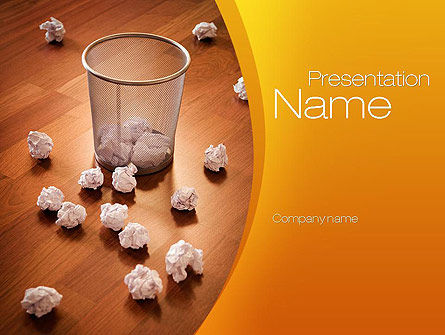 Shooting Paper Balls PowerPoint Template, 10723, Business Concepts — PoweredTemplate.com