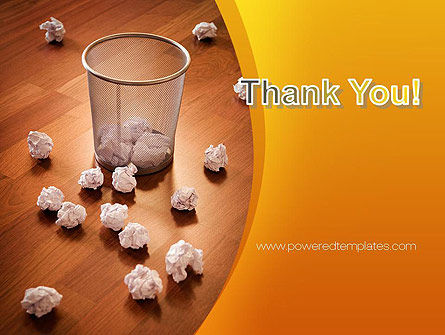 Shooting Paper Balls PowerPoint Template Slide 20