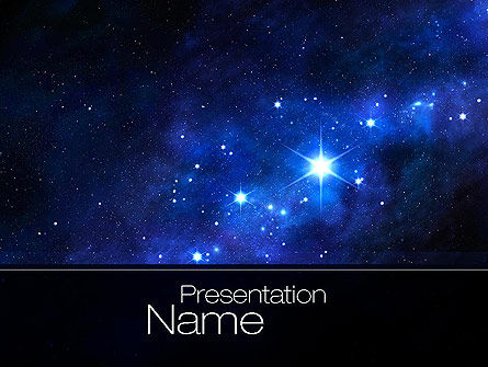 Constellation PowerPoint Template, 10725, Education & Training — PoweredTemplate.com