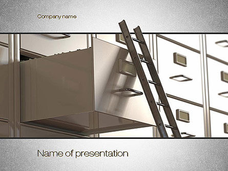 Corporate Ladder PowerPoint Template