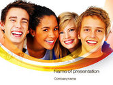 People: High School Students PowerPoint Template #10728