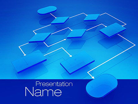 Flowchart Concept PowerPoint Template, 10729, Consulting — PoweredTemplate.com
