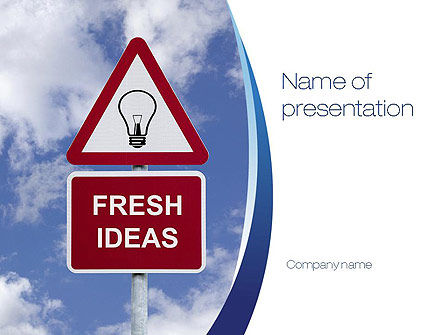 Fresh Ideas PowerPoint Template, 10731, Business Concepts — PoweredTemplate.com