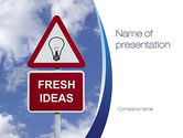Business Concepts: Fresh Ideas PowerPoint Template #10731