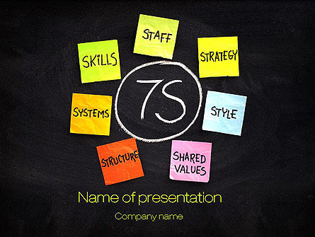 Business Concepts: 7S Model PowerPoint Template #10733