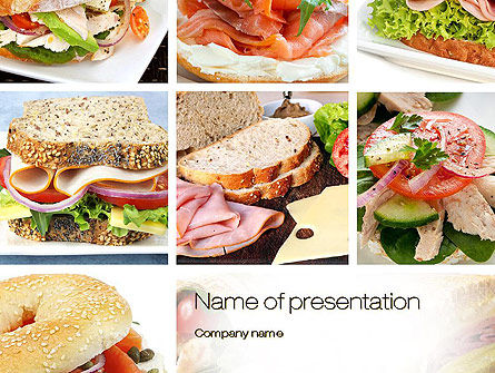 Sandwiches PowerPoint Template, 10734, Food & Beverage — PoweredTemplate.com