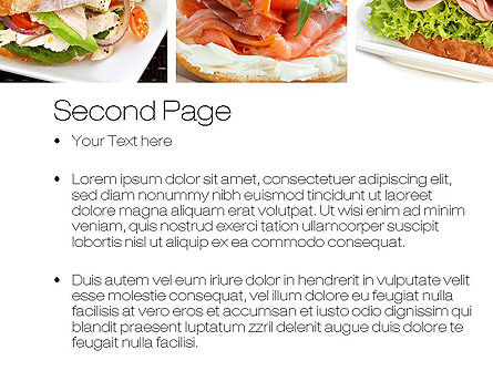 Sandwiches PowerPoint Template, Slide 2, 10734, Food & Beverage — PoweredTemplate.com