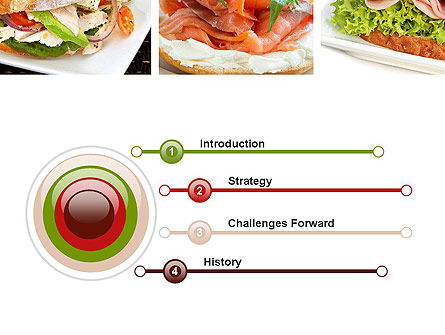 Sandwiches PowerPoint Template, Slide 3, 10734, Food & Beverage — PoweredTemplate.com