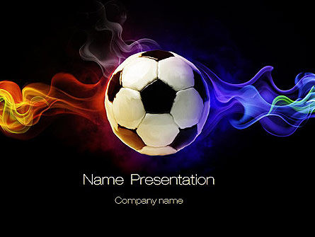 Fire Football PowerPoint Template, 10735, Sports — PoweredTemplate.com