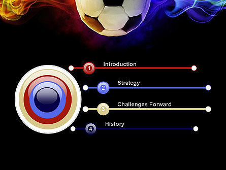 Fire Football PowerPoint Template, Slide 3, 10735, Sports — PoweredTemplate.com
