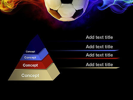 Fire Football PowerPoint Template, Slide 4, 10735, Sports — PoweredTemplate.com
