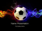Sports: Fire Football PowerPoint Template #10735
