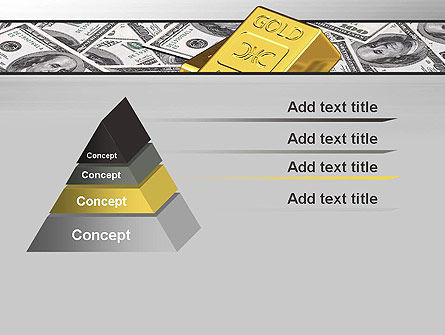 Gold Bars on Dollars PowerPoint Template Slide 12