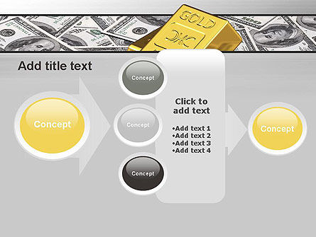 Gold Bars on Dollars PowerPoint Template Slide 17
