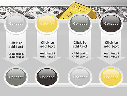 Gold Bars on Dollars PowerPoint Template Slide 18