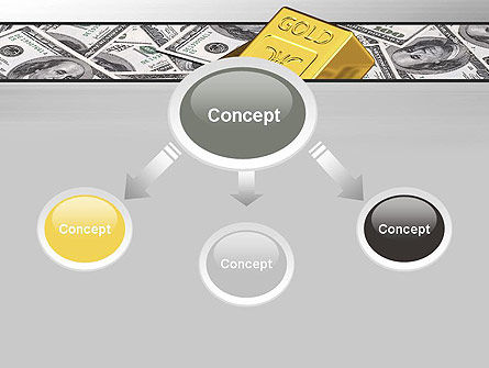 Gold Bars on Dollars PowerPoint Template Slide 4