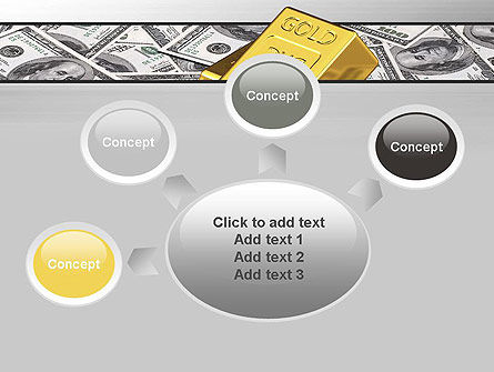Gold Bars on Dollars PowerPoint Template Slide 7
