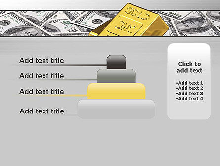Gold Bars on Dollars PowerPoint Template Slide 8