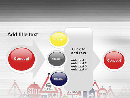 Road Signs PowerPoint Template Slide 17