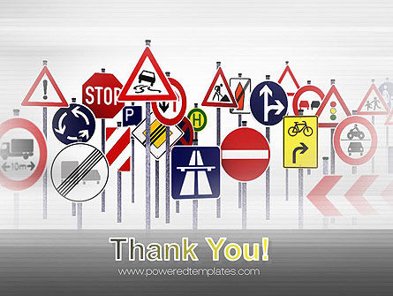 Road Signs PowerPoint Template Slide 20