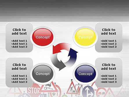 Road Signs PowerPoint Template Slide 9