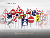 Education & Training: Road Signs PowerPoint Template #10742