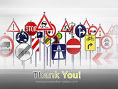 Road Signs PowerPoint Template#20