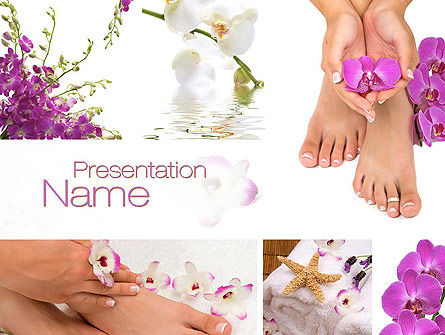 Nail Spa PowerPoint Template, 10744, Careers/Industry — PoweredTemplate.com