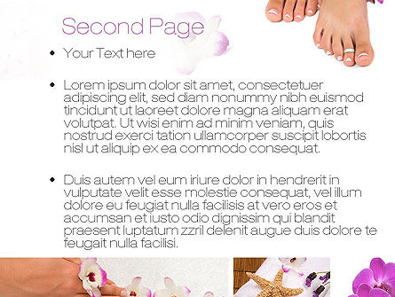 Nail Spa PowerPoint Template, Slide 2, 10744, Careers/Industry — PoweredTemplate.com