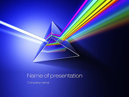 Technology and Science: Light Dispersion PowerPoint Template #10746