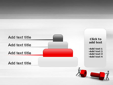 Two People Pushing Bolt PowerPoint Template Slide 8
