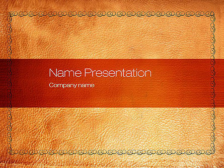 Leather Surface PowerPoint Template