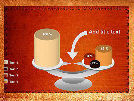 Leather Surface PowerPoint Template Slide 10