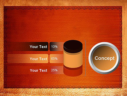 Leather Surface PowerPoint Template Slide 11