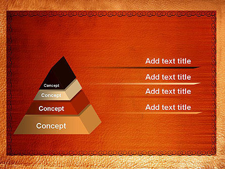 Leather Surface PowerPoint Template Slide 12