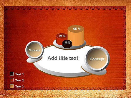 Leather Surface PowerPoint Template Slide 16