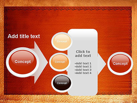 Leather Surface PowerPoint Template Slide 17