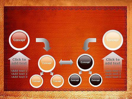 Leather Surface PowerPoint Template Slide 19