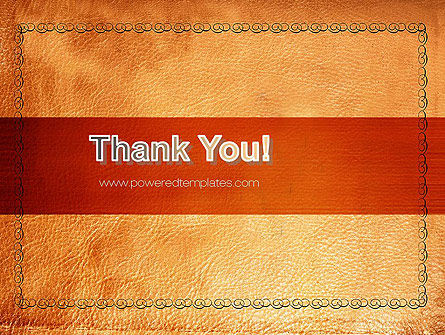 Leather Surface PowerPoint Template Slide 20