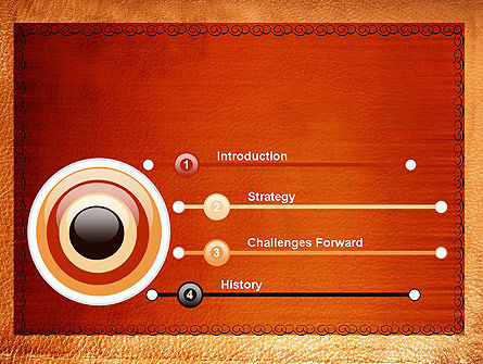 Leather Surface PowerPoint Template Slide 3
